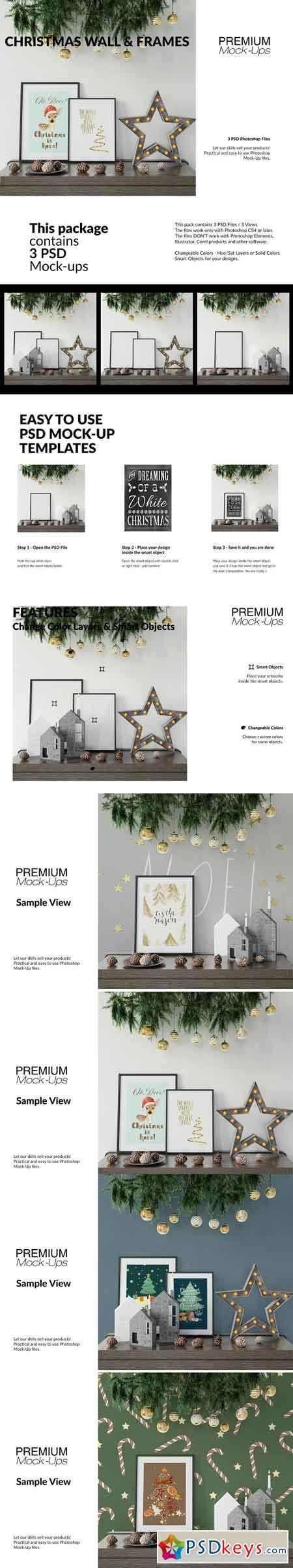 Christmas Frames & Wall Set 3092403