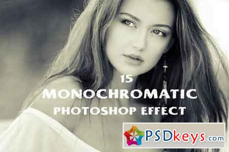 15 monochromatic effect photoshop action 3502463