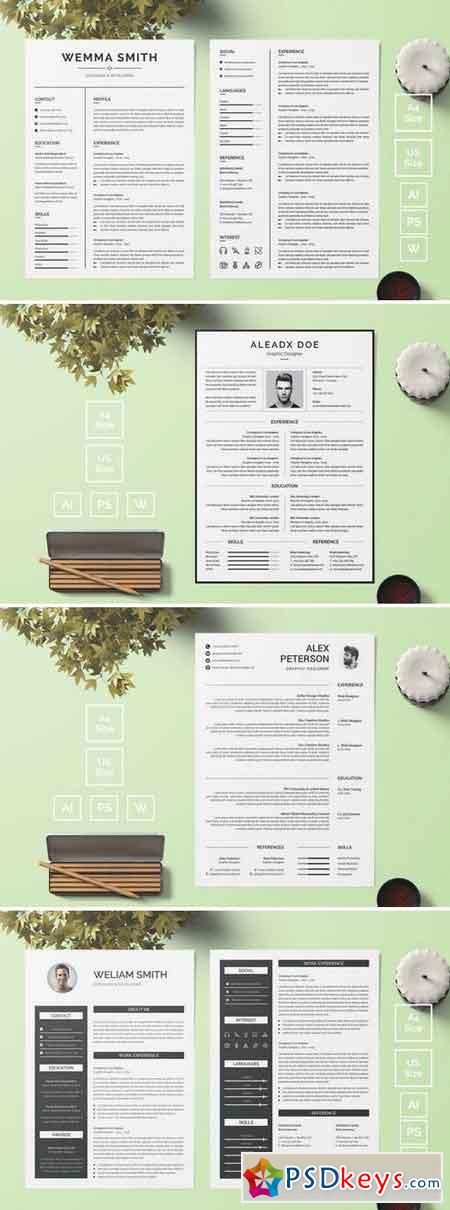 Resume CV Template Bundle 9