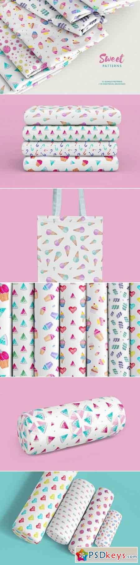 Watercolor Sweet Patterns 3477781