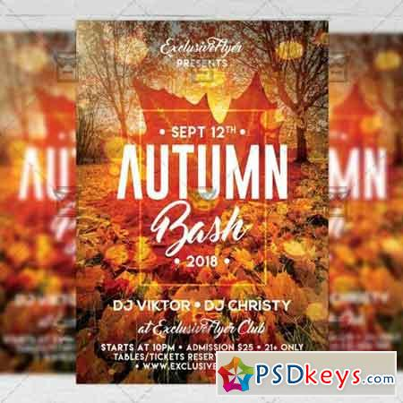 Autumn Bash Flyer - Seasonal A5 Template