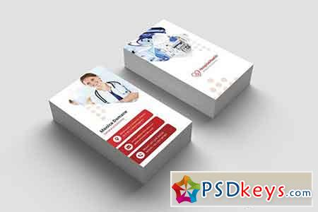 Business Card - Hospital Vertical