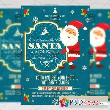 Dinner with Santa - Seasonal A5 Flyer Template