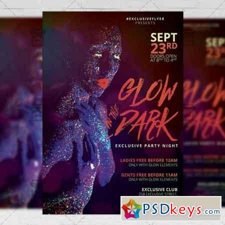 Glow in the Dark Flyer - Club A5 Template