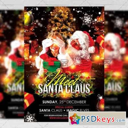 Meet Santa - Seasonal A5 Flyer Template