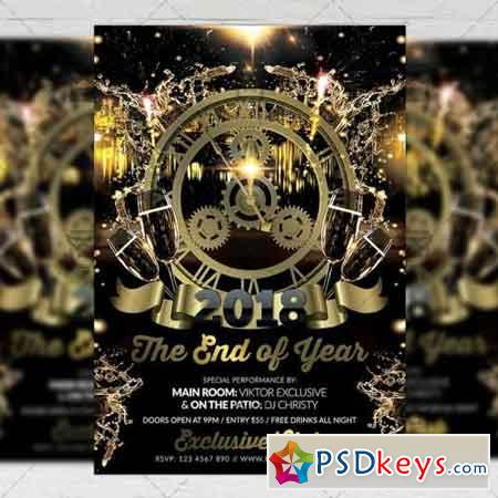 The End of Year Night - Seasonal A5 Flyer Template