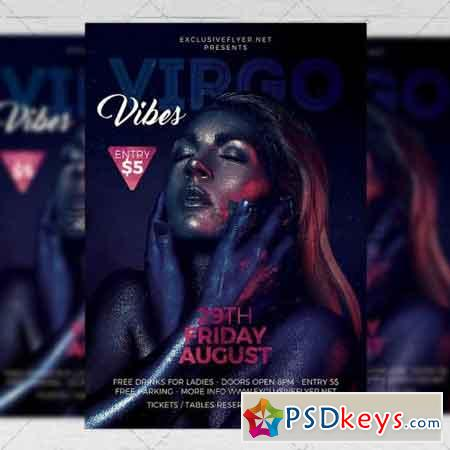 Virgo Vibes - Zodiac A5 Flyer Template