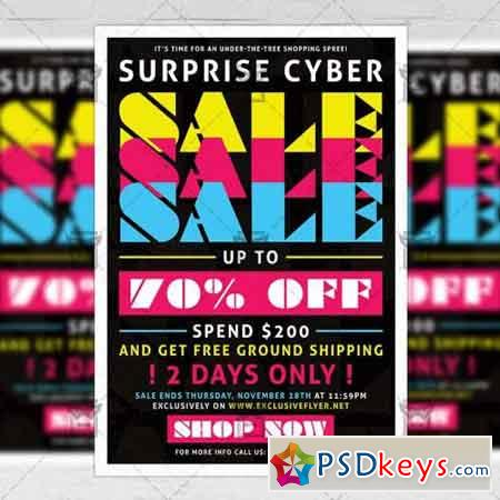Cyber Sale - Community A5 Flyer Template