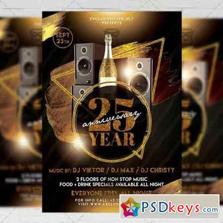 Exclusive Birthday Party Flyer - Club A5 Template
