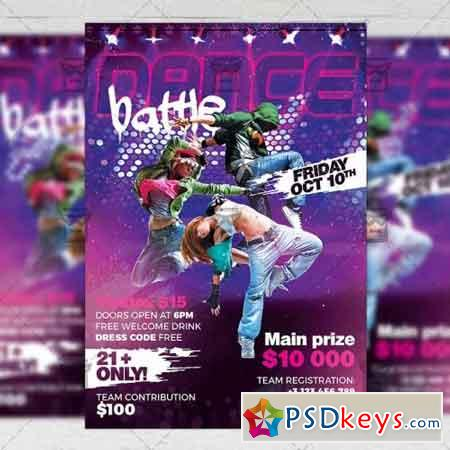 Dance Battle Flyer - Club A5 Template