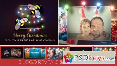 Christmas Lights Logo Slideshow 6261740 After Effects Template
