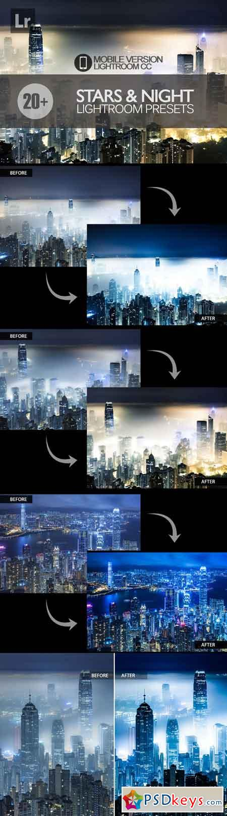20+ Stars and Night Sky Lightroom Mobile bundle 3504072
