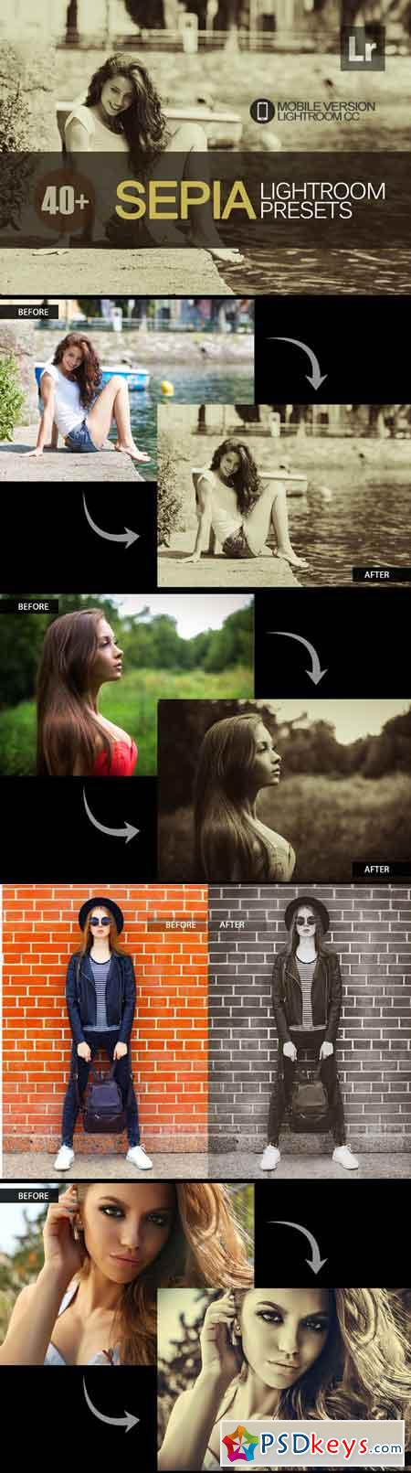 40+ Sepia Lightroom Mobile bundle 3504051