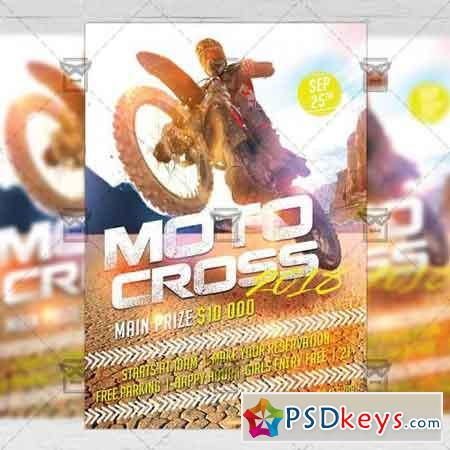 Moto Cross 2018 - Biker A5 Flyer Template