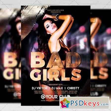 Bad Girls Flyer - Club A5 Template