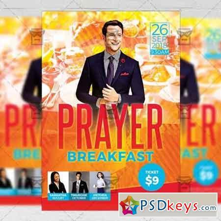 Prayer Breakfast Flyer - Church A5 Template