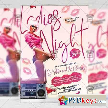 Ladies Night Flyer - Club A5 Template 2
