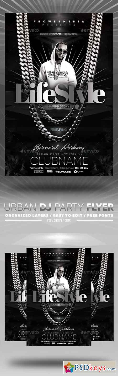 Urban DJ Party Flyer 22730797