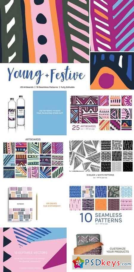 Young Festive Artboards + Patterns 2664553