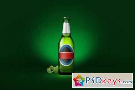 Beer bottle mock-up 26697