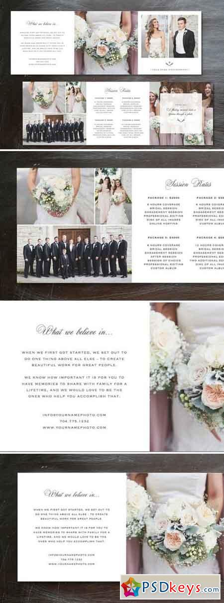 Template Trifold Pricing Guide 132695