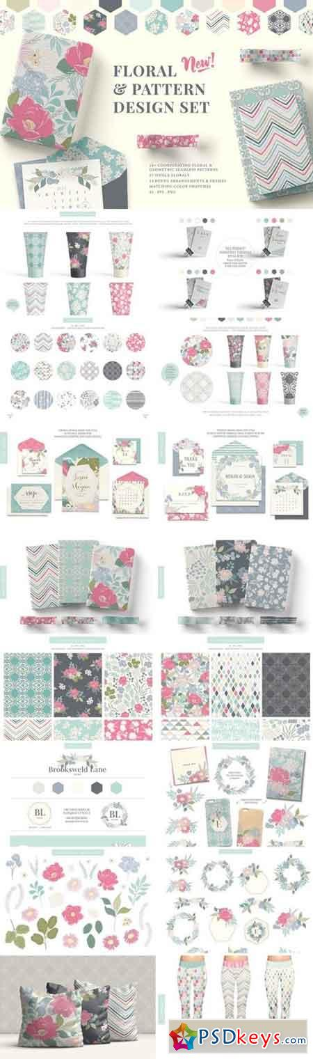 Floral & Pattern Design Set 2584197