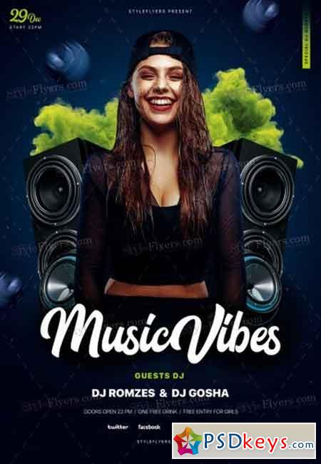 Music Vibe Psd Flyer Template