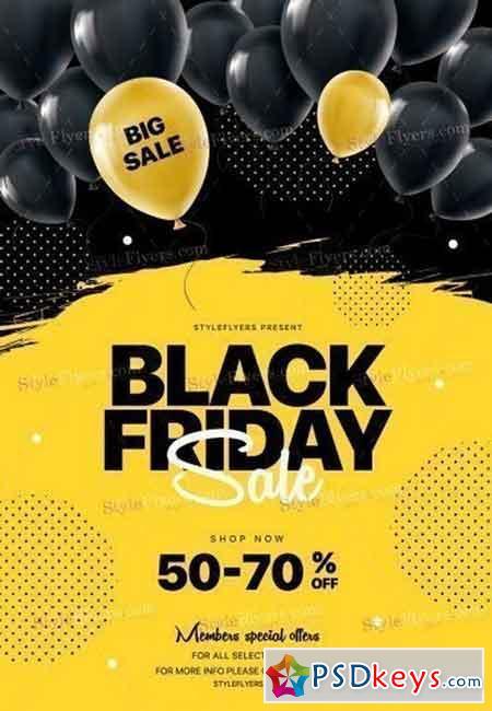 Black Friday PSD Flyer Template 2