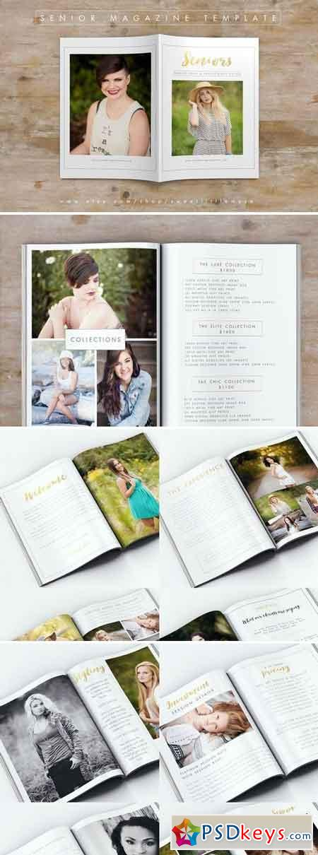 Senior Photography Magazine Template 341077