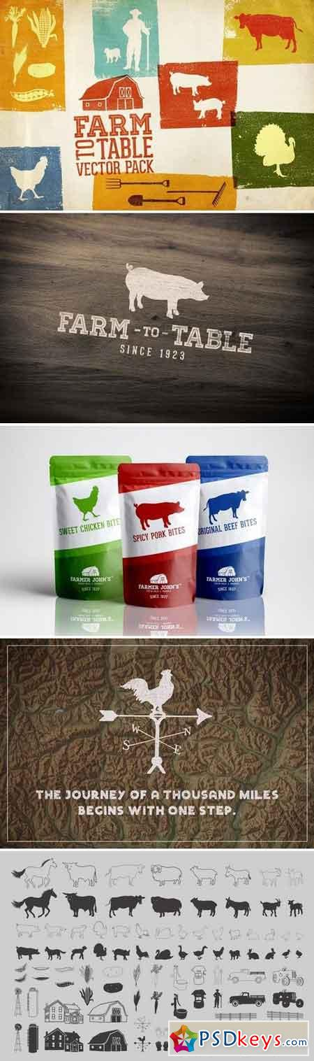 Farm to Table Vector Pack Volume 1 1269645