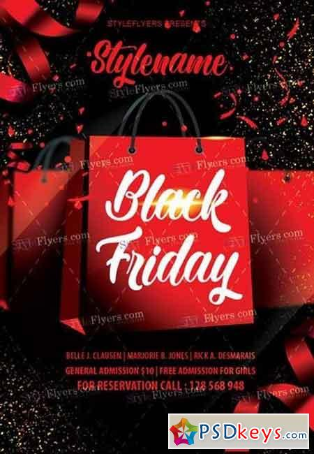 Black Friday PSD Flyer Template 3