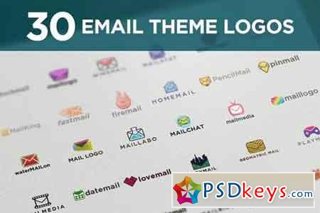 30 Email Themed Logo Kit
