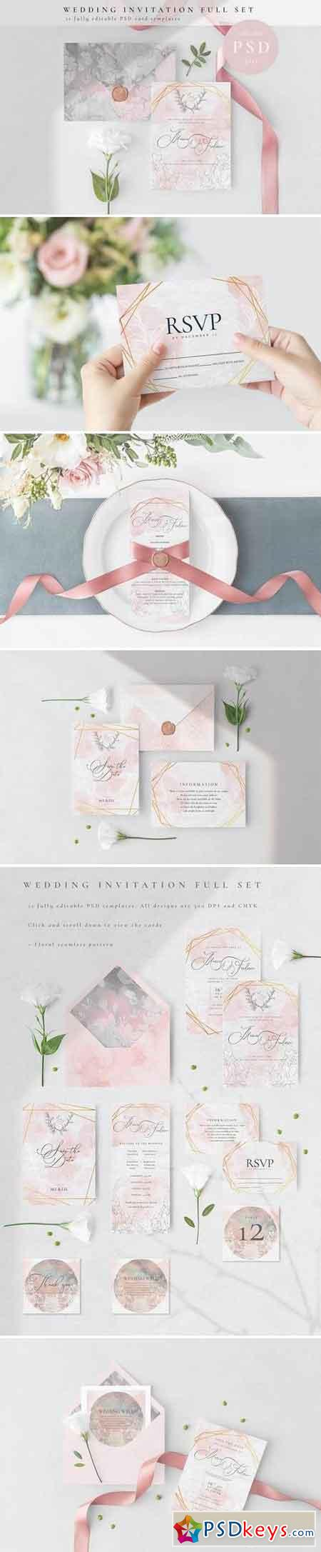 Wedding Invitation Full Set