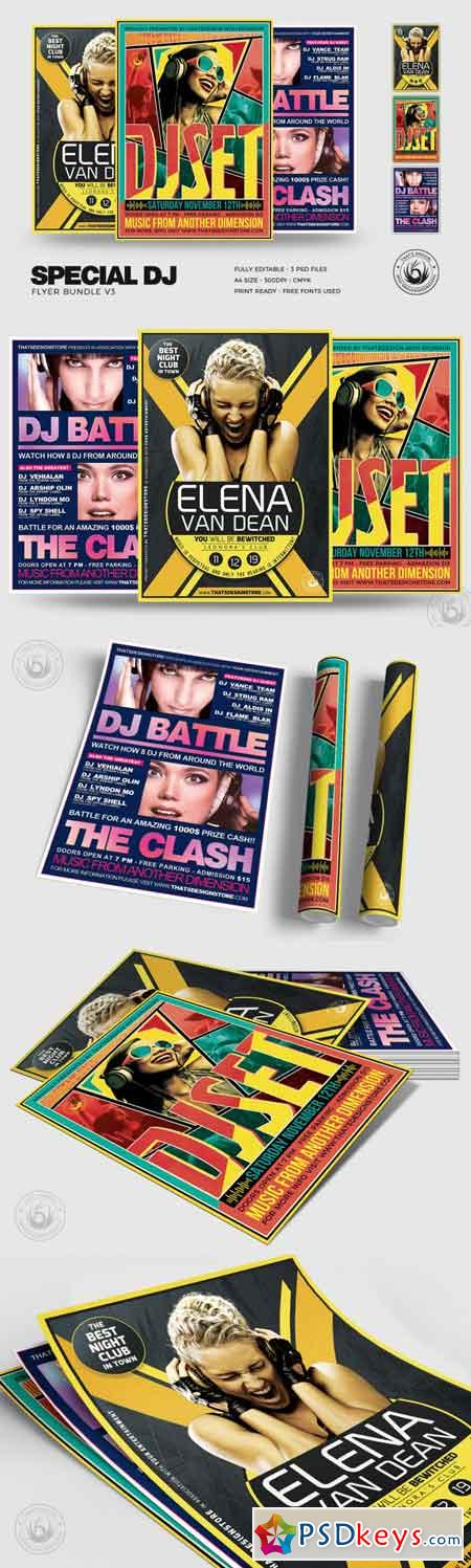 Special DJ Flyer Bundle V3 3504943