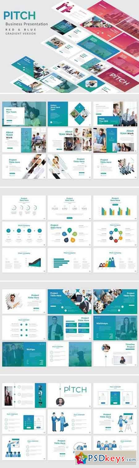 Pitch Business - Powerpoint, Keynote, Google Sliders Templates