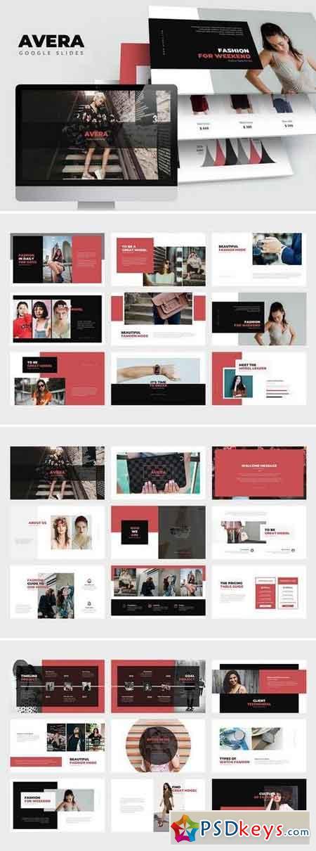 Avera Minimal Fashion Google Slides