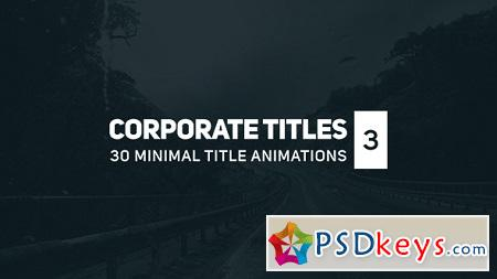 Corporate Titles 3 17164923 After Effects Template