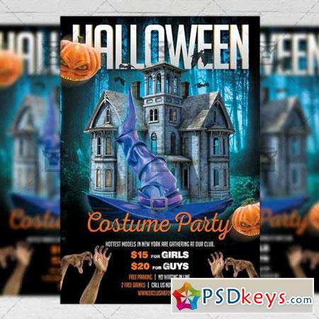 Halloween Costume Party Flyer - Seasonal A5 Template