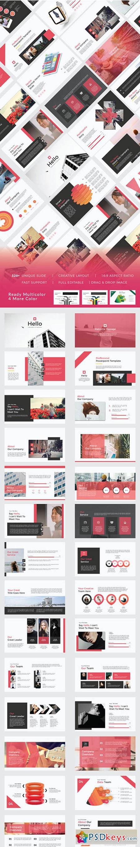 Hello Creative Design For Your Business, Keynote and Google Sliders