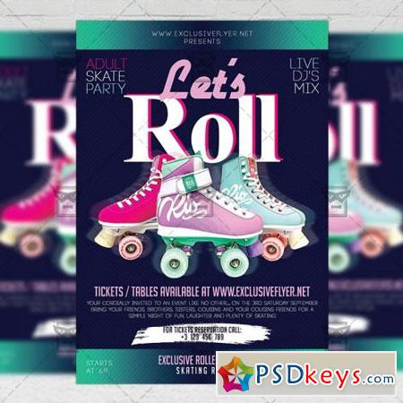 Let's Roll Flyer - Club A5 Template