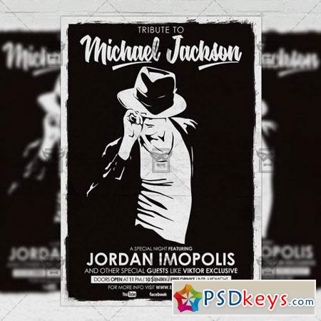 Tribute to Michael Jackson Flyer - Club A5 Template