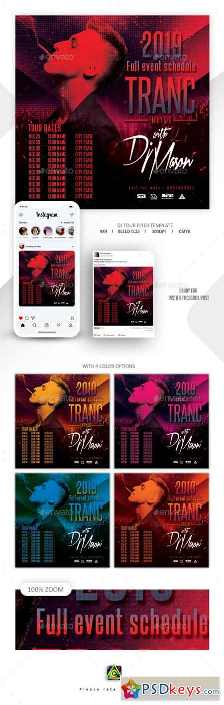 Dj Tour Flyer Template 22794537