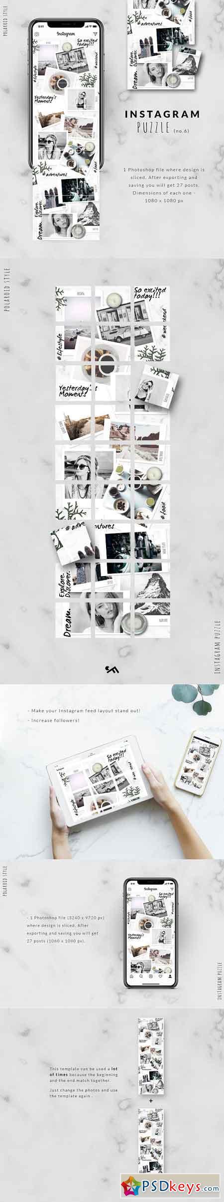 Instagram PUZZLE template - Polaroid 3023725