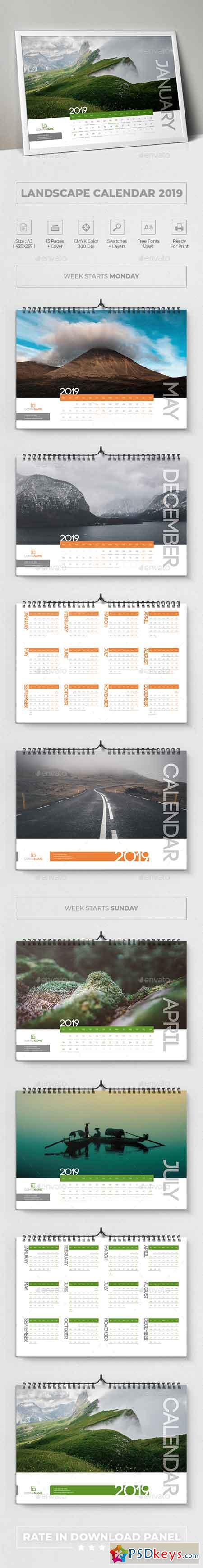 Landscape Calendar 2019 22783301