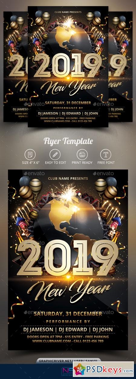 New Year Flyer 22824805