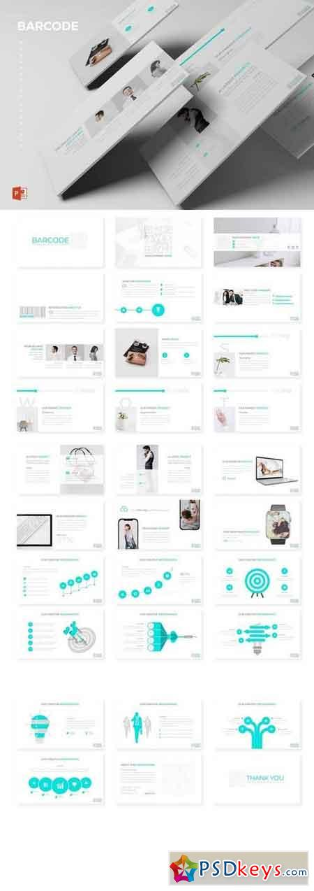Barcode - Powerpoint, Keynote, Google Sliders Templates