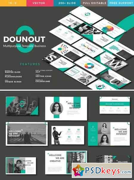Dounot Creative - Powerpoint, Keynote, Google Sliders Templates