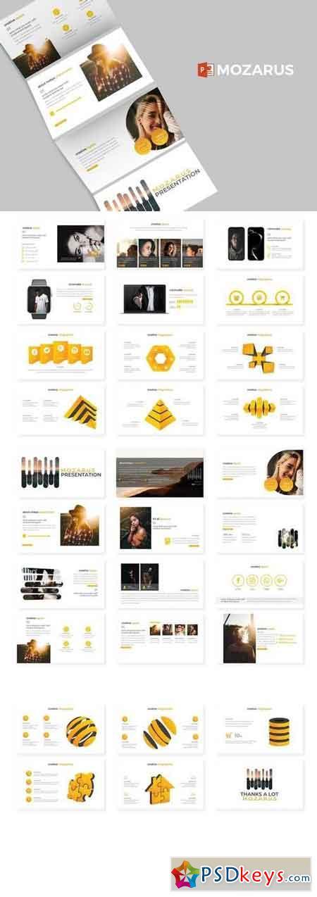 Mozarus - Powerpoint, Keynote, Google Sliders Templates
