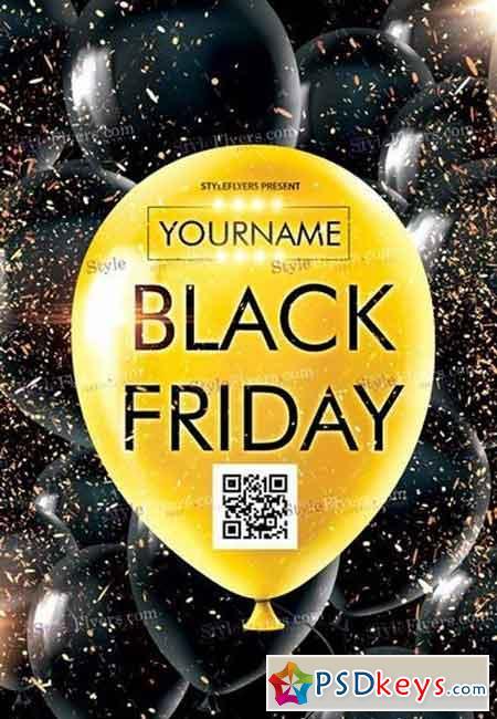 Black Friday PSD Flyer Template 4