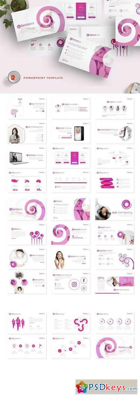 Fantasia - Powerpoint, Keynote, Google Sliders Templates